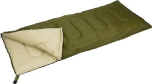 Abbey Camp Dekenmodel Basic - Slaapzak - 210 x 85 cm - Legergroen-Zand