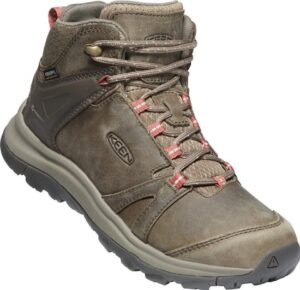 KEEN Terradora Ii Leather Mid Wp Brindle-Redwood Wandelschoenen Heren