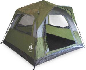 Lumaland - Comfort Pop Up Tent - 3 persoons werptent - Outdoor geschikt voor camping-festival - 210x210 x140 cm - Groen