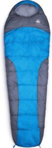 Lumaland - Mummieslaapzak - outdoor slaapzak - 230 x 80 cm - incl. tas, verpakt 50 x 25 cm - Blauw