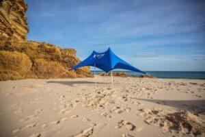 TipTopShade Strandparasol - Multifunctioneel - Lichtgewicht - Blauw